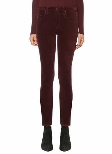 Rag&Bone Slim Fit Dar Paça Kadife Pantolon Bordo